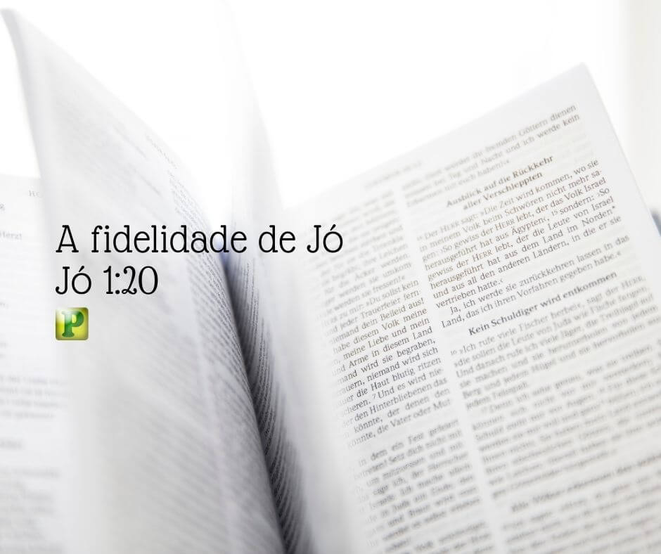 A fidelidade de Jó – Jó 1:20