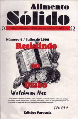Livro – Resistindo ao diabo – Autor  Watchman Nee