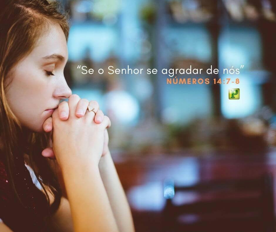 """""""Se o Senhor se agradar de nós"""" – Números 14:7-8"""