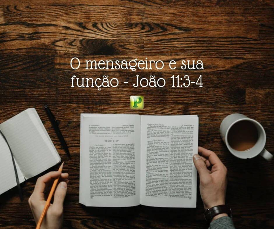 O mensageiro e sua função – João 11:3-4