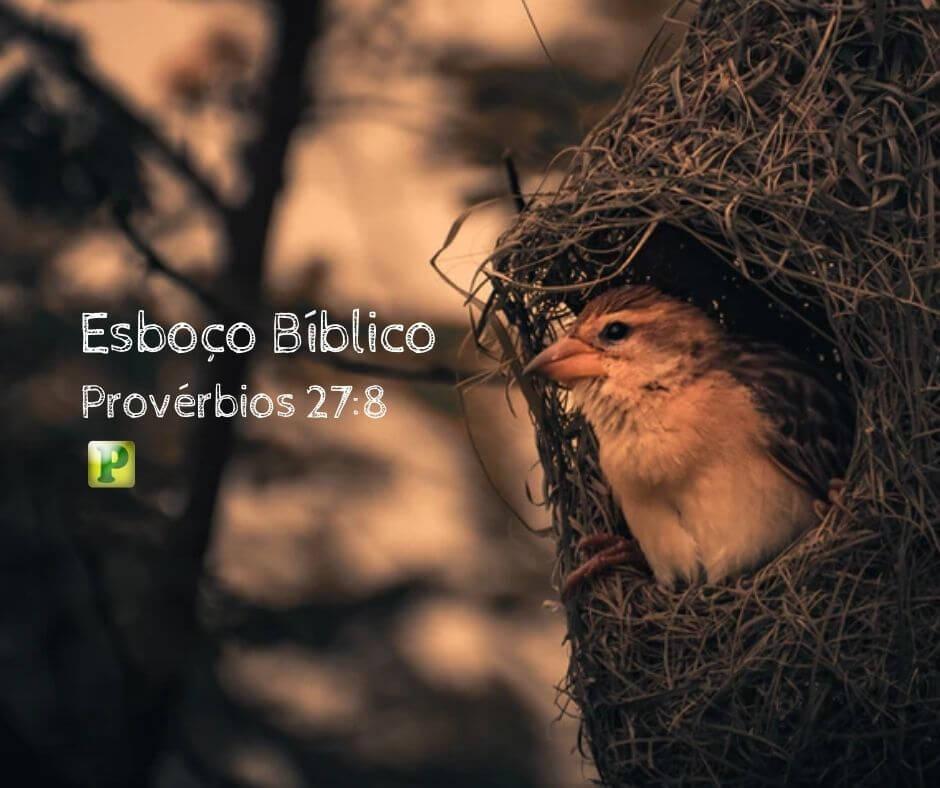 Esboço Bíblico – Provérbios 27:8