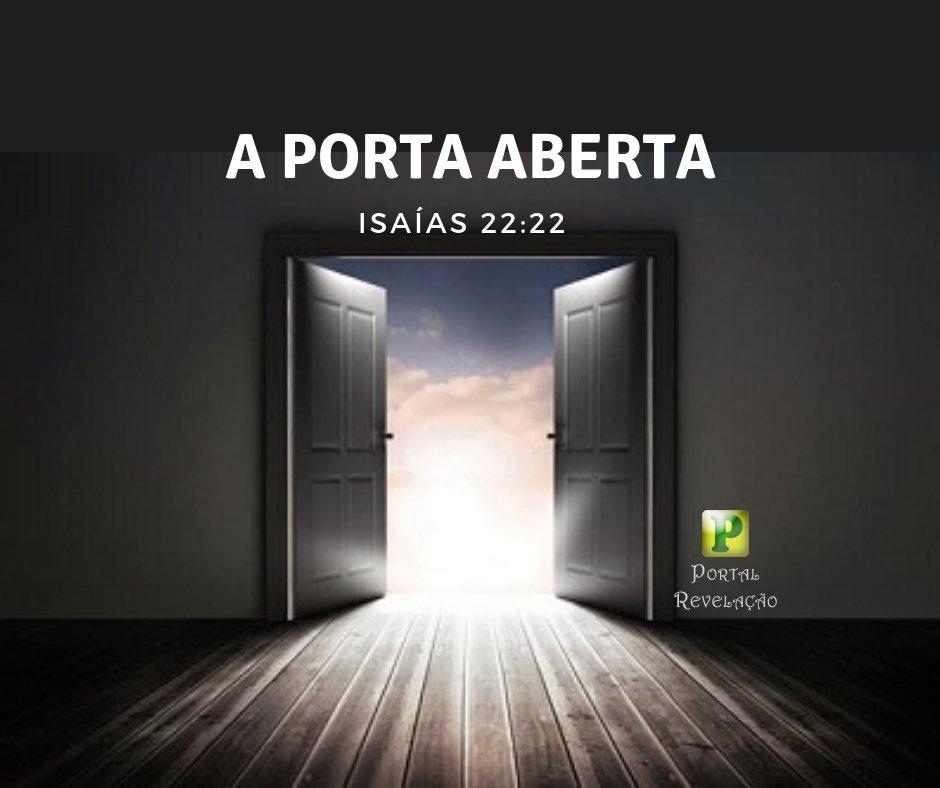 A porta aberta – Isaías 22:22