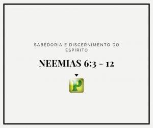 Neemias 6:3 e 12 – Sabedoria e discernimento do Espírito