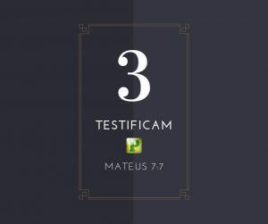 Três testificam: Pai, Filho e Espírito