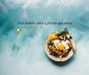 Será também como o faminto que sonha – Isaías 29:8-14